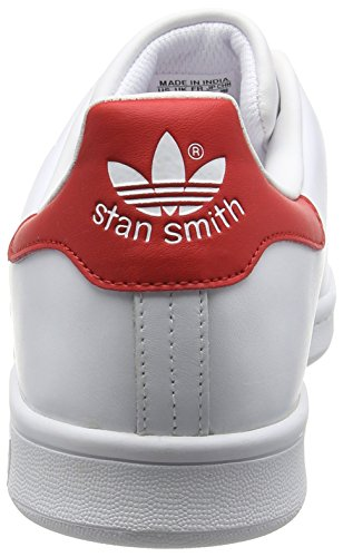 adidas Originals Stan Smith, Sneakers Unisex-Adulto Bianco (Running White Ftw/Running White Ftw/Collegiate Red)