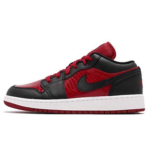 Nike Air Jordan 1 Low (GS), Scarpe da Ginnastica Basse Unisex-Bambini, Rosso (Gym Red/Black-White 610), 38 EU