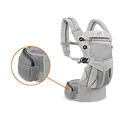 TLTLYEBD Baby Carrier, Front-Holding Multi-Functional Summer Breathable Newborn Newborn Baby Sling Baby Support Strap Multi-Color Optional (Color : Gray)