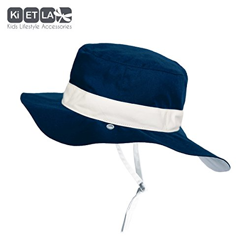 6acc5924910 Ki ET LA – Baby Toddler Sun Hat - UPF 50 + – Reversible Panama Navy - 100%  cotton - 2-4 years old