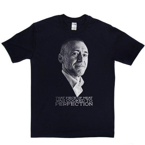 Michel Roux Celebrity Chef Cook TV T-shirt Marineblau