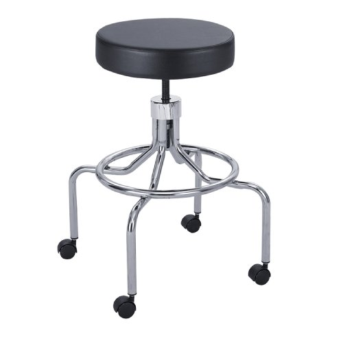 Safco Lab Stool, High Base with Screw Lift Office/Computer Chair - Office & Computer Chairs (High Base with Screw Lift) -