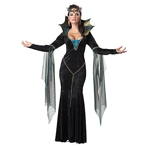Verkleidung Böse Zauberin (Black Velvet Hexe Kostüme)