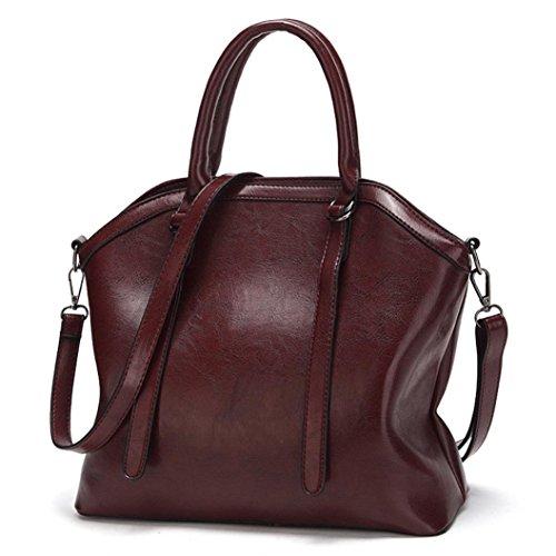 Tasche, Voberry Mode Frauen Leder Handtasche Schulter Messenger Bag Tasche Tasche Taschen Kaffee