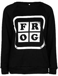 Gogofuture Felpa Donna Classico Elegante Manica Lunga Blusa Rotondo Collo Pullover  Sweatshirt Stampati Lettera Maglietta Tops Taglie… 95f11d494e1