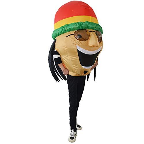 Luft Aufgeblasen Halloween Kostüm - thematys Aufblasbares Jamaika Reggae Kostüm -