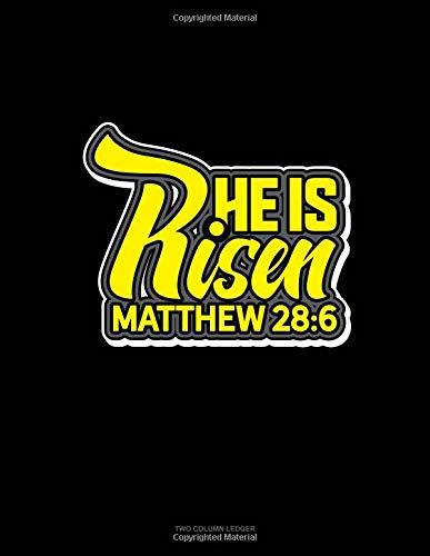 He is Risen - Matthew 28:6: Unruled Composition Book por Engy Publishing
