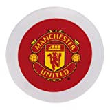 Manchester United Unisex Official Round Tax Disc Holder, Multi-Colour