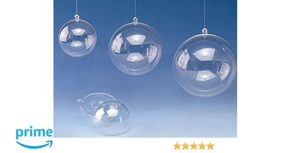 1 Satz Kunststoffkugeln Acrylkugeln 12,10 cm 14 Plastikkugeln transparent