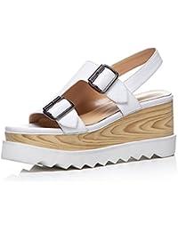 KJJDE Plateauschuhe Damen Creepers Schuhe WSXY-L0610 Keilabsatz Damenschuhe Sandalen Sandaletten Keilabsatz Schuhe