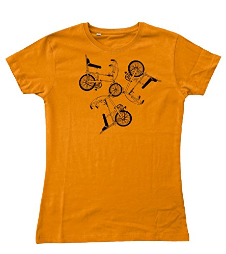 Motorholics Ladies OS Raleigh Chopper Trio Fitted T-Shirt, many colours - sizes 8 to 16