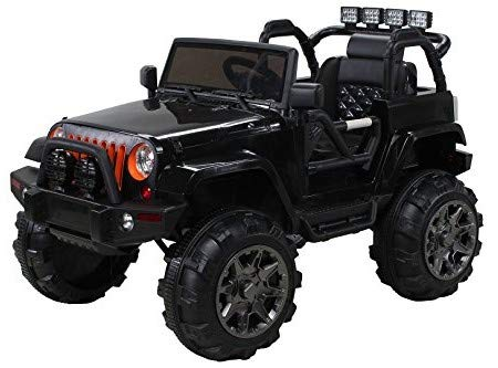 *Actionbikes Motors Kinder Elektroauto Offroad Jeep 2 x 35 Watt (Schwarz)*