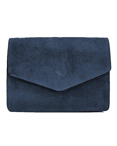 1c127c8f80718 ImiLoa Ledertasche klein schwarz braun blau grau Lederhandtasche  Umhängetasche echt Leder Tasche Wildleder Handtasche Dunkelblau