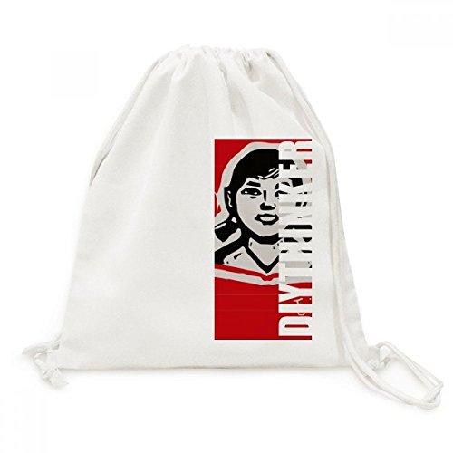 DIYthinker Mädchen-Buch Red Chinesische Revolution Leinwand Rucksack Reisen Shopping Bags