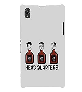 Fiobs Designer Phone Back Case Cover Sony Xperia Z1 :: Sony Xperia Z1 L39h :: Sony Xperia Z1 C6902/L39h :: Sony Xperia Z1 C6903 :: Sony Xperia Z1 C6906 :: Sony Xperia Z1 C6943 ( Monk Drink Xxx Rum Head Quarters Quotes on Drink )
