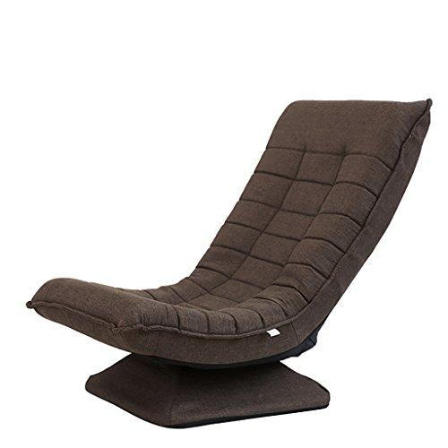Lazy Sofa Einzel Stuhl Kreative Bequeme Mini Sofa Indoor/Outdoor Weichen Boden Kissen Boden Stuhl Für Mittagsruhe/Fernsehen/Gaming/Nap (Kaffee) (Farbe : Kaffee) -