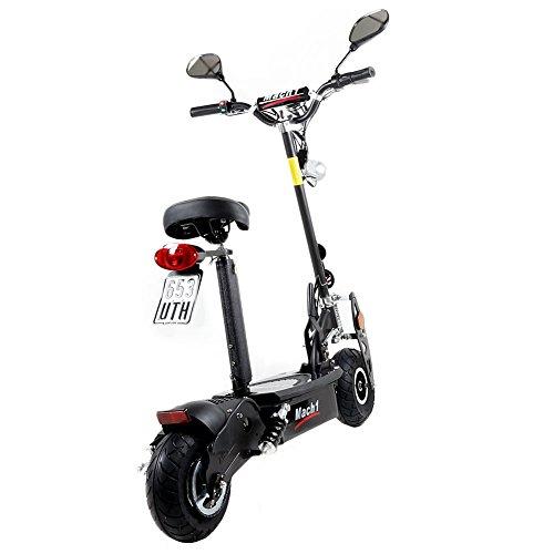 MACH1® Elektro E-Scooter mit EU Strassenzulassung 20Km/h Mofa Modell-2 EEC 36V/500W (Es besteht keine Helmpflicht für diesen Scooter) (1x 36V-14Ah Original Akkus) - 3