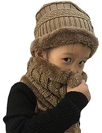 Boomly Unisex Bambini Invernale Calda Morbido Spessa Cappello Lavorato a maglia  Berretto da sci Beanie in 240c62be3e9f