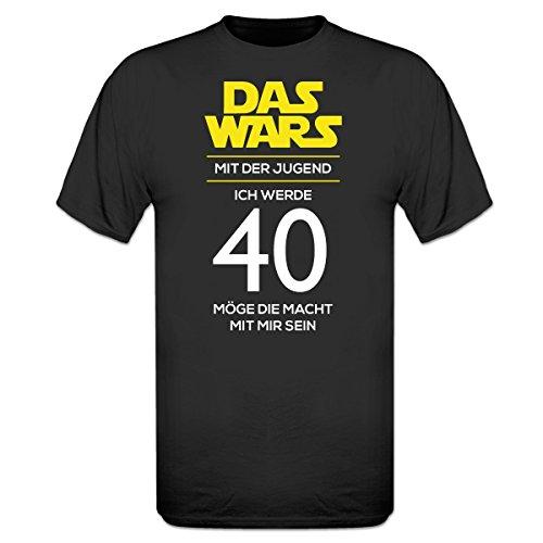Shirtcity Das Wars mit der Jugend Ich Werde 40 T-Shirt by