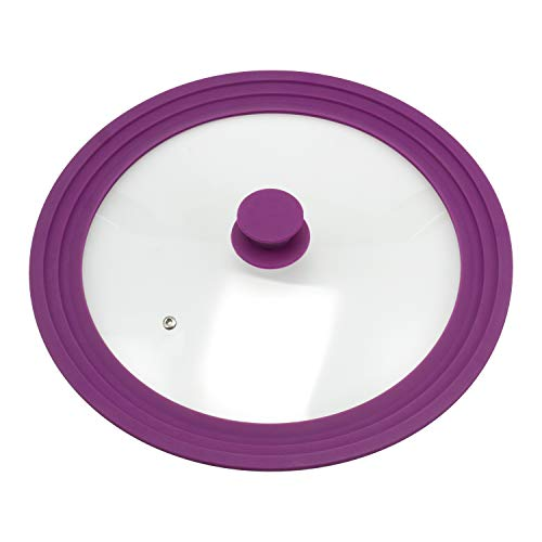 Bremermann® coperchio universale con bordo in silicone, 30/32/34 cm, grande (viola)
