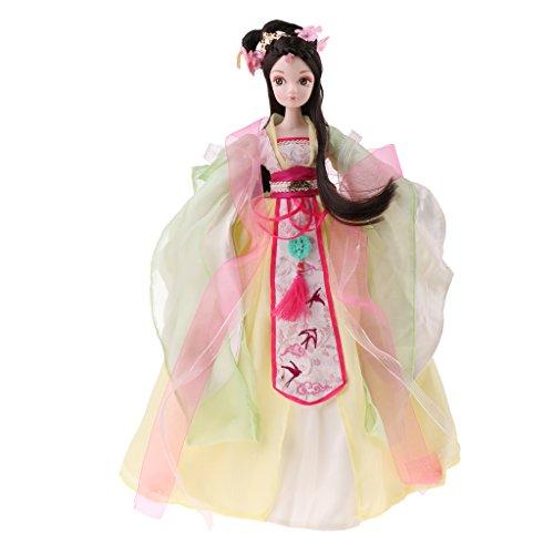 Sharplace Flexible 10 Gelenke Chinesische Fee Prinzessin Figur Vinyl Gelenk Körper Puppen mit Schöne Bekleidung - 2