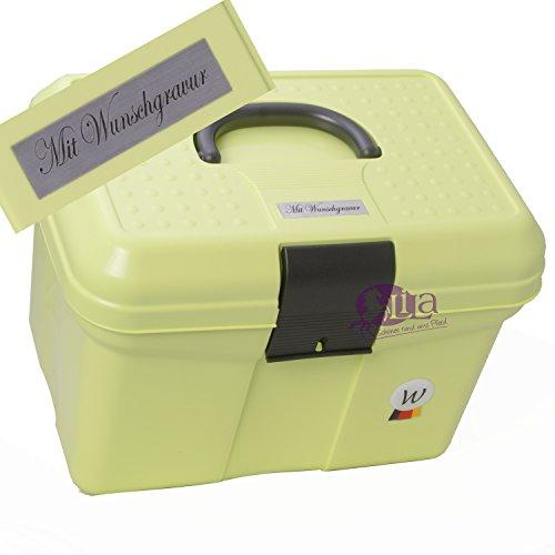 Putzbox Waldhausen Lime mit Namensgravur