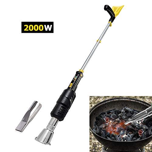 KUKUMAX Désherbeur Brûleur électrique -2000W Jardin électrique portatif termo et Briquet électrique BBQ jusqu'à 600°c