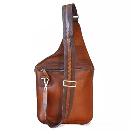 Pratesi Bisaccia borsello - B135 Bruce (Cognac) Marrone