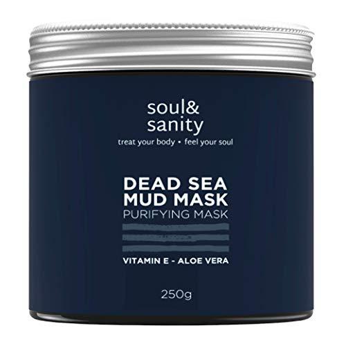 Dead Sea Mud Mask mit Aloe Vera und Vitamin E | Detox Maske | Gesichtsmaske | Purifying Mask | gegen trockene und unreine Haut | Anti Aging | Anti Mitesser