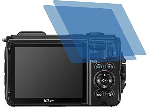 4ProTec 2X ANTIREFLEX matt Schutzfolie für Nikon Coolpix W300 Premium Displayschutzfolie Bildschirmschutzfolie Schutzhülle Displayschutz Displayfolie Folie (Nikon Bundle Camera)
