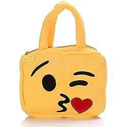 Escuela Bolso Bandolera Emoticon Emoji con correa de mano y cremallera Liebeskind bolso Chica Mujer Fashion Festival Trend