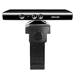 TRIXES TV Clip Mount Stand Holder for Xbox 360 Kinect Black