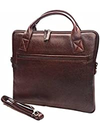 Poshaque Luxe Unisex Genuine Leather Sling Bag (Brown)