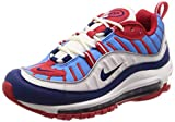 Nike W Air MAX 98, Zapatillas de Atletismo para Mujer, (Summit White/Blue Void/University Red 112), 41 EU