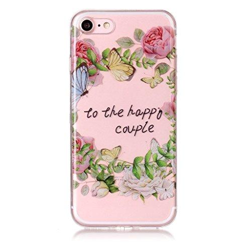 """Hülle für iPhone 7 / iPhone 8 , IJIA Transparent Mandala Blume TPU Weich Silikon Stoßkasten Cover Handyhülle Schutzhülle Handytasche Schale Case Tasche für Apple iPhone 7 / iPhone 8 (4.7"""") XS78"""