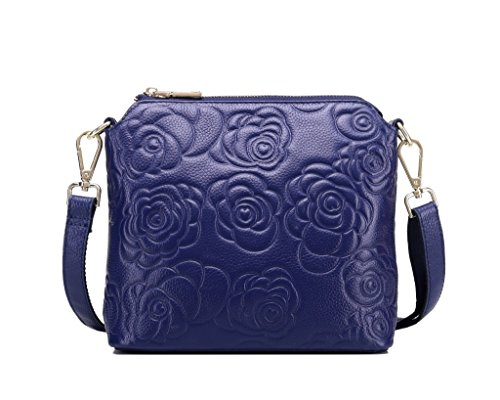 Mefly Da donna in pelle All-Match Borsa a Tracolla Gules Navy Blue