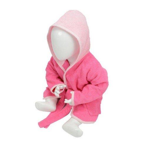 A&R - Albornoz con capucha modelo Babiezz para bebé (3/12 Meses/Rosa/rosa ligero)
