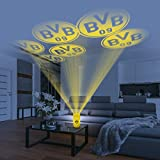 Borussia Dortmund Motiv Projektor Haus   BVB Logo LED-Echtwachskerze   Motivstrahler Fanartikel Licht Deko inkl. Fernbedienung (Gelb)