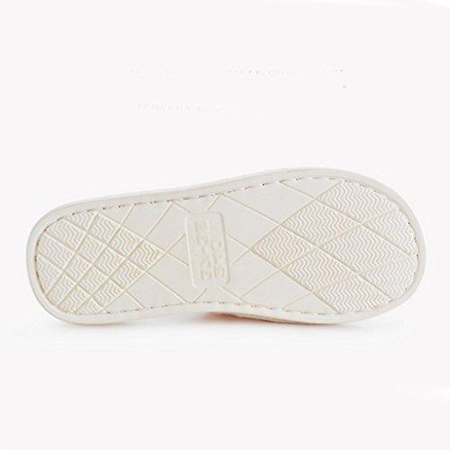 DWW-chaussons Pantoufles d'hiver Hommes coton glissante maison chaude intérieure absorbante douce et confortable chaussures Pattern 1