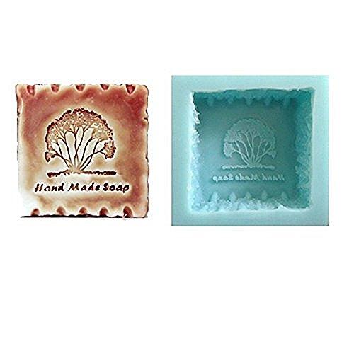 Inception Pro Infinite Silikonform für Quadratischen Handgemachten Gebrauch für Seife mit gravierter Handgemachter Seife (Hand Made Soap) - Auch verwendbar für Seife (Quadrat Soap Mold)
