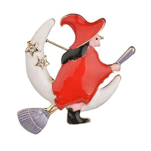 Zeichen Kostüm Cartoon Lustige - Amosfun Halloween broschen Legierung Hexe broschen brustnadel anstecknadeln für Geschenk Abendgesellschaft kostüm dekor 5 stücke