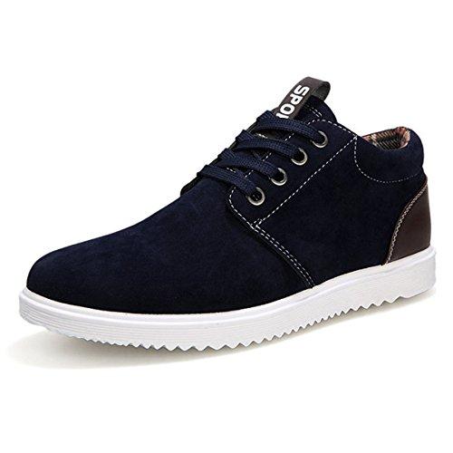 Herren Schuhe / Sneakers, flach, atmungsaktiv, Freizeitmode, für alle Jahreszeiten geeignet, blau - dunkelblau - Größe: 39 (Boots Black Square Toe)