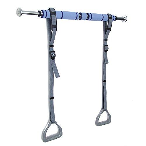 Preisvergleich Produktbild Pellor Kinder Verstellbare Gym Ringe Mit Schnalle (grau mit Reck)