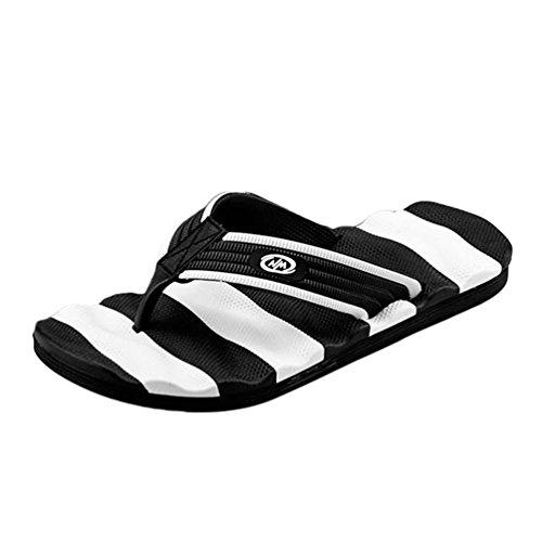 Dexinx infradito casual sandali scarpe da spiaggia ciabatte da spiaggia estiva per uomo nero bianco 46