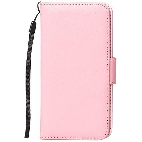 Wkae Case Cover Mappen-Art-Six-Karten-Slots PU Ledertasche mit Lanyard für iPhone 6 Plus & 6S plus ( Color : White ) Pink
