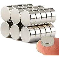 Imanes de nevera de cilindro de neodimio N52 (30 piezas) aitsite multiusos Junta de borrado en seco imanes imanes de oficina resistente imanes para nevera/puerta/pizarra/mapa/protector de