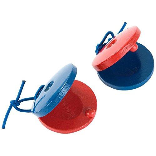 SG Educational PP 591 Kastagnette, Holz, rot/blau