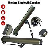 Mortai Metallo Bluetooth Speaker, Senza Fili Stereo 3D Camera del Suono A Tubo Lungo 4000Mah Grande capacità Supporto USB AUX E TF Card, per Fan Militare Raccogliere Donare