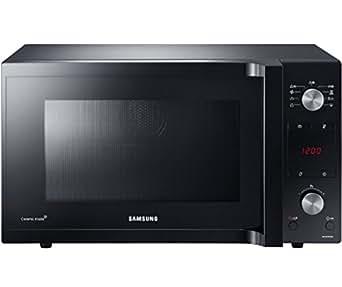 Samsung - mc455tcrcbb/ef - Four à micro-ondes grill et chaleur tournante 45l 1550w noir Ceramic Inside