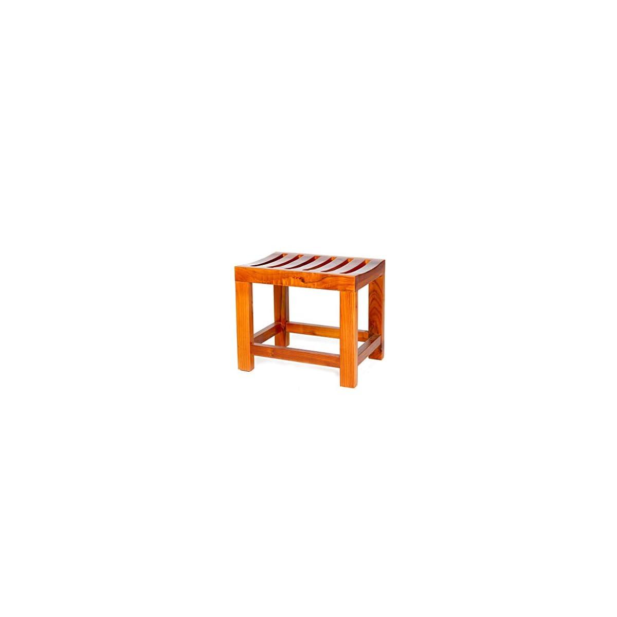 41Ao5N gn%2BL. SS1200  - Jiaz Muebles/estante/estante de almacenamiento Taburete de ducha con marco de bambú con estante Taburete de baño Taburete Adecuado para uso en interiores o exteriores